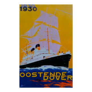 Cru PosterEurope d'Oostende Douvres