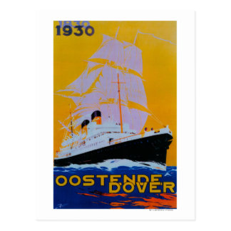 Cru PosterEurope d'Oostende Douvres Carte Postale