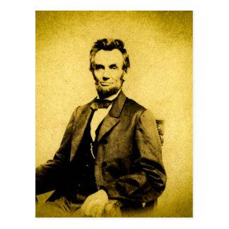 CRU RARE du Président Abraham Lincoln STEREOVIEW Carte Postale