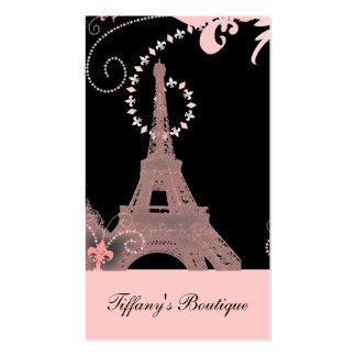 cru rose élégant girly de Paris de Tour Eiffel Carte De Visite Standard