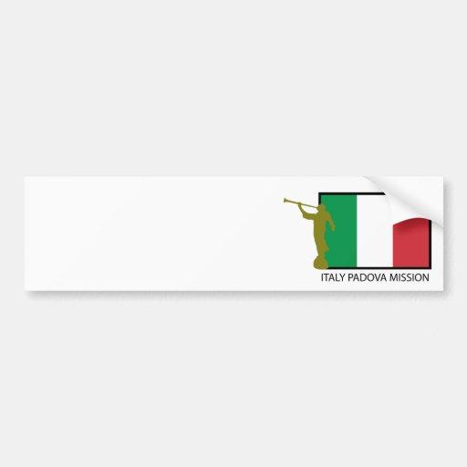 CTR DE LA MISSION LDS DE L'ITALIE PADOUE AUTOCOLLANTS POUR VOITURE