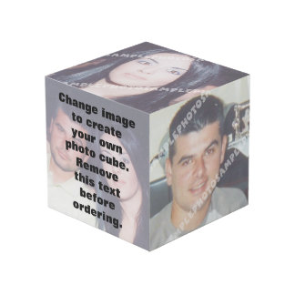 Cube personnalisé en photo. Faites vos propres !