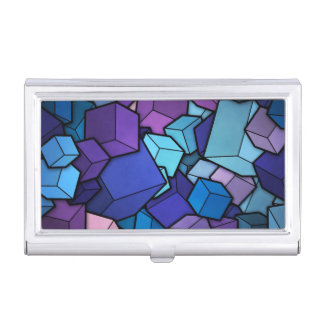 Cubes abstraits boîtier pour cartes de visite