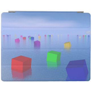 Cubes colorés flottant - 3D rendent Protection iPad