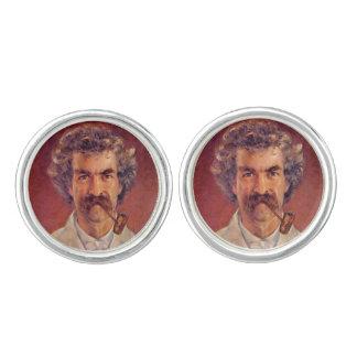 Cufflinks van de de pijproker van Mark Twain Manchetknopen