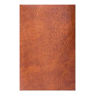 Cuir de Brown Papier À Lettre Personnalisable