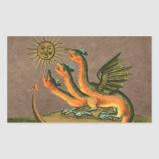 Cuir de dragons d'alchimie de Clavis Artis Sticker Rectangulaire