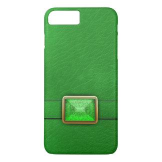 Cuir de Faux et caisse verts de téléphone de Coque iPhone 7 Plus