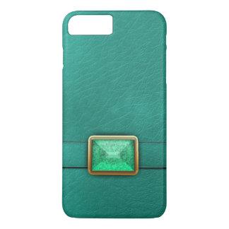 Cuir turquoise de Faux et cas de téléphone de Coque iPhone 7 Plus