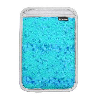 Cuir végétalien bleu au néon d'échelle de sirène housses iPad mini