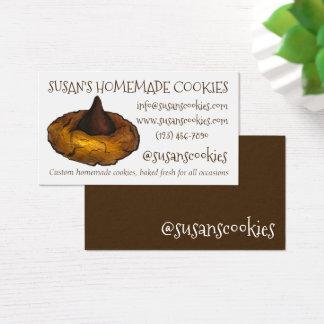 Cuisson de biscuit de fleur de beurre d'arachide cartes de visite