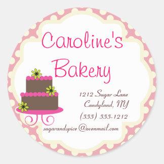 Cuisson et boutique de boulangerie, point de polka sticker rond