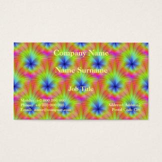 Culture de couleur carte de visite standard