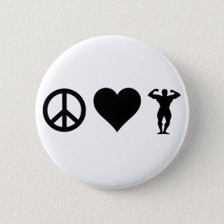 Culturisme d'amour de paix badge rond 5 cm