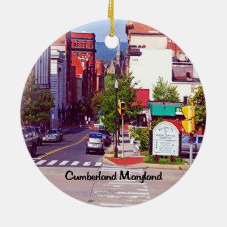 Cumberland le Maryland Ornement Rond En Céramique