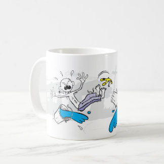 Cup of coffee. Slippery illustration. Mug