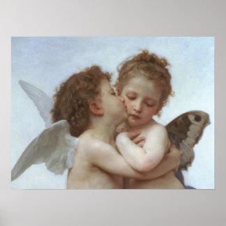 Cupidon et psyché comme enfants