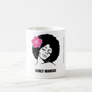 Curly Ait piqué, effiloche de femme avec des Mug