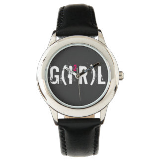 Custom Cuir vintage girl Montre