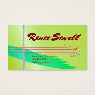 Customisez les deux côtés d'aquarelle fleurie cartes de visite