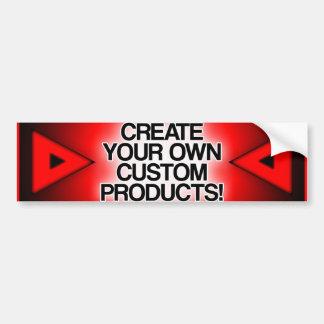 Customisez/personnalisez/créez vos propres autocollant de voiture