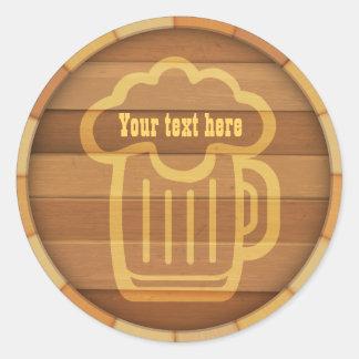 Customisez votre bière sticker rond