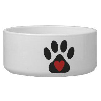 Cuvette d'animal familier d'amour de chien assiette pour chien