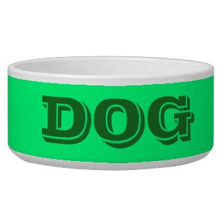 Cuvette de chien par grand au printemps vert de écuelle pour chien