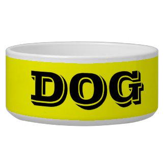 Cuvette de chien par grand jaune de Janz Écuelle Pour Chien