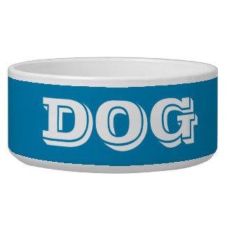 Cuvette de chien par le grand bleu en acier de bol pour chien