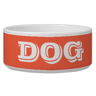 Cuvette de chien par le grand rouge de tomate de assiette pour chien