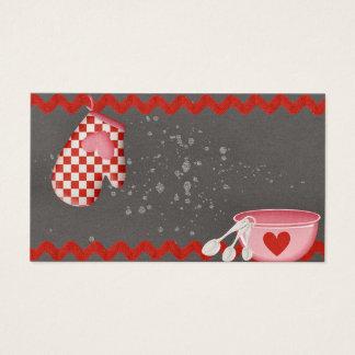 Cuvette de cuisson de gant de four de boulangerie cartes de visite