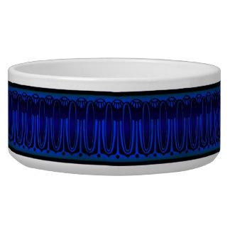 Cuvette en céramique de chien de motif ovale bleu  bols pour chien