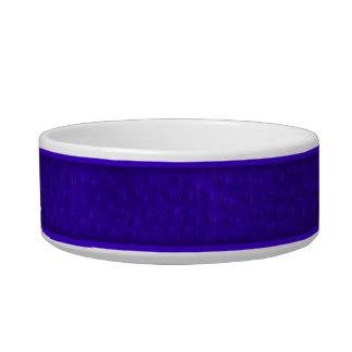 Cuvette en céramique de chien d'impression bleu assiette pour chat