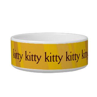 Cuvette jaune de catfood de conception écuelles pour chat