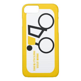 Cycliste montant sa coutume de bicyclette coque iPhone 7