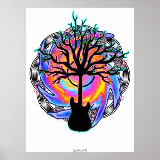 """""""Cyclone sonique psychédélique"""" (art surréaliste Poster"""