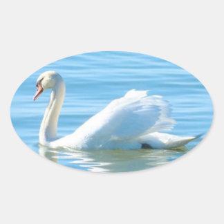 Cygne blanc élégant - autocollant
