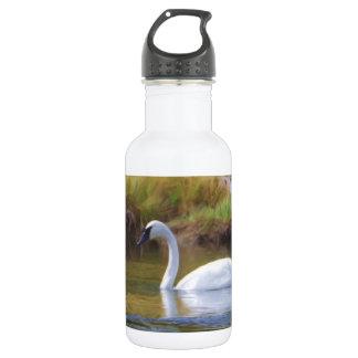Cygne de trompettiste bouteille d'eau