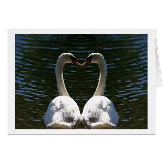 Cygnes de Valentine Carte De Vœux