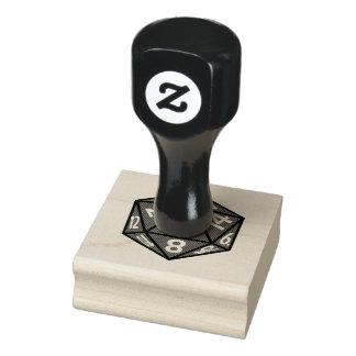 D20 tampon en caoutchouc d'icône des matrices RPG