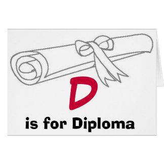 D est pour la carte de diplôme