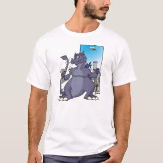 D est pour le T-shirt de dinosaure