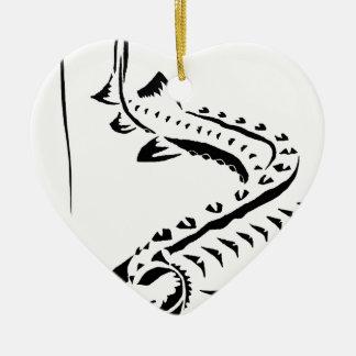 D-Tribal d'Amu Ornement Cœur En Céramique
