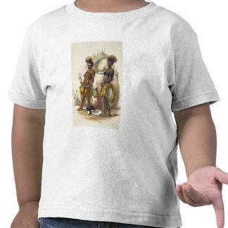 Dabiyaki et Upapazi, garçons de zoulou dans la rob T-shirts