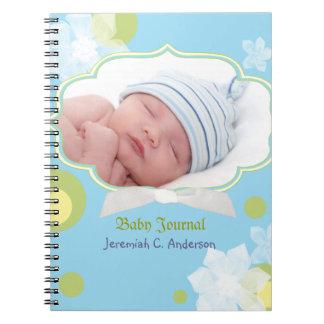 Dagboek van de Foto van het Baby van de Jongen van Ringband Notitieboek