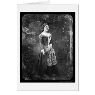 Daguerréotype 1845 d'opéra de Rosalie Laborde Carte De Vœux