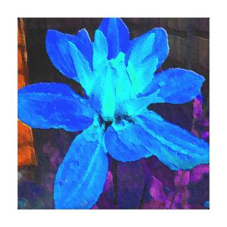 Dahlia bleu toiles