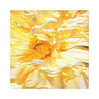 Dahlia jaune de fantaisie toile