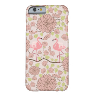 Dahlia rose, coque iphone de motif de flamant